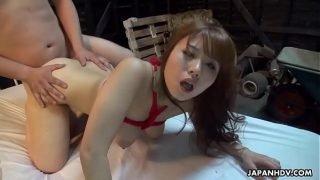 Asian school girl fucking hard with f.