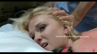 Blonde forced to fuck in fetish bdsm sex