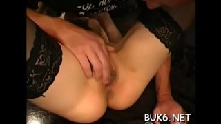 Cute maid is forced to entertain several lascivious male dicks