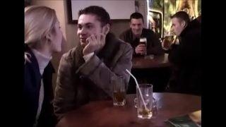 slut forced by two strangers in front boyfriend